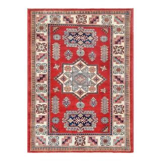 Herat Oriental Afghan Hand-knotted Tribal Super Kazak Wool Rug (4'1 x 5'8)