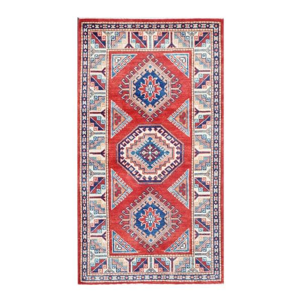 Herat Oriental Afghan Hand-knotted Tribal Vegetable Dye Super Kazak Wool Rug - 2'11 x 5'2