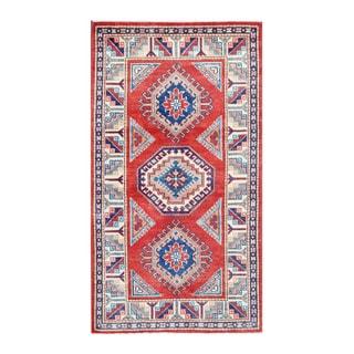 Herat Oriental Afghan Hand-knotted Tribal Vegetable Dye Super Kazak Wool Rug (2'11 x 5'2)