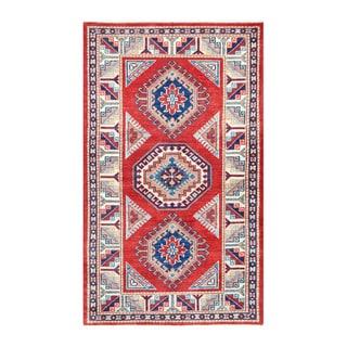 Herat Oriental Afghan Hand-knotted Tribal Vegetable Dye Super Kazak Wool Rug (2'11 x 5')