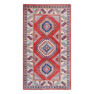 Herat Oriental Afghan Hand-knotted Tribal Super Kazak Wool Rug (2'11 x 5'2)