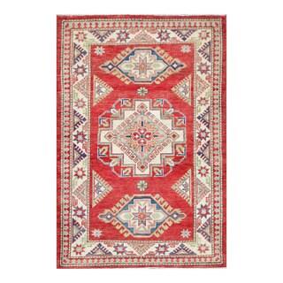 Herat Oriental Afghan Hand-knotted Tribal Super Kazak Wool Rug (3'4 x 4'10)