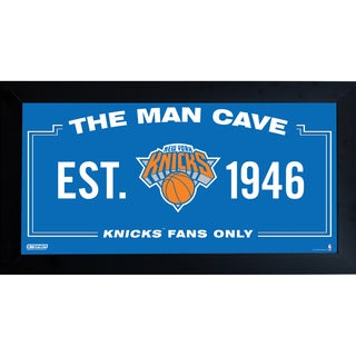 New York Knicks Man Cave Sign 10x20 Framed Photo