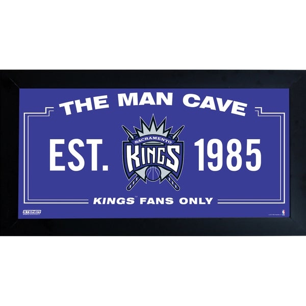 Sacremento Kings Man Cave Sign 10x20 Framed Photo