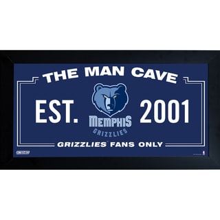 Memphis Grizzlies Man Cave Sign 10x20 Framed Photo