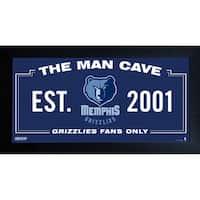 Memphis Grizzlies Man Cave Sign 10x20 Framed Photo