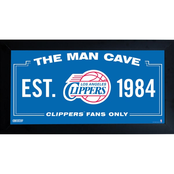 Los Angeles Clippers Man Cave Sign 10x20 Framed Photo