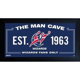 Washington Wizards Man Cave Sign 6x12 Framed Photo