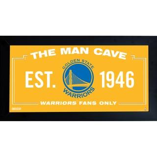 Golden State Warriors Man Cave Sign 6x12 Framed Photo