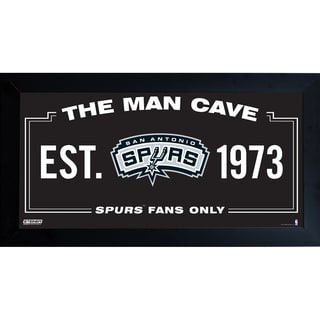 San Antonio Spurs Man Cave Sign 6x12 Framed Photo