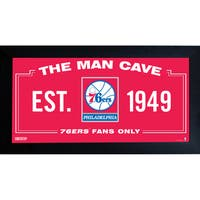 Philadelphia 76ers Man Cave Sign 6x12 Framed Photo