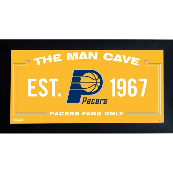 Indiana Pacers Man Cave Sign 6x12 Framed Photo
