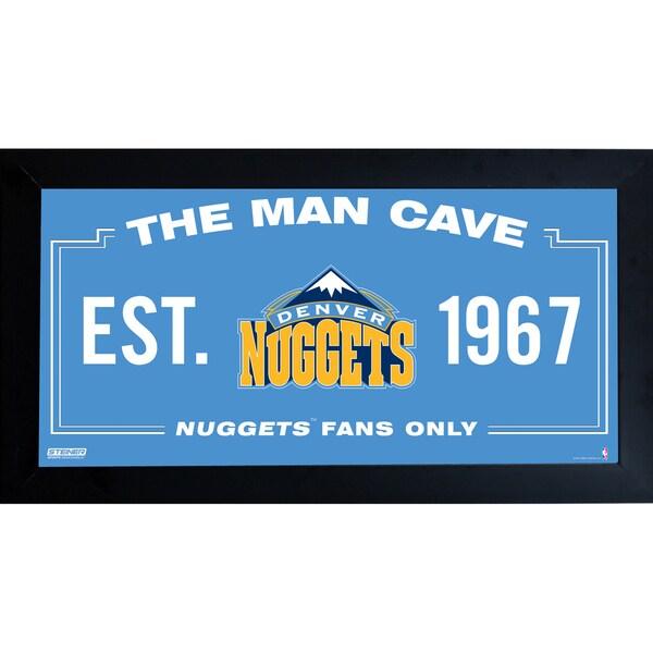 Denver Nuggets Man Cave Sign 6x12 Framed Photo