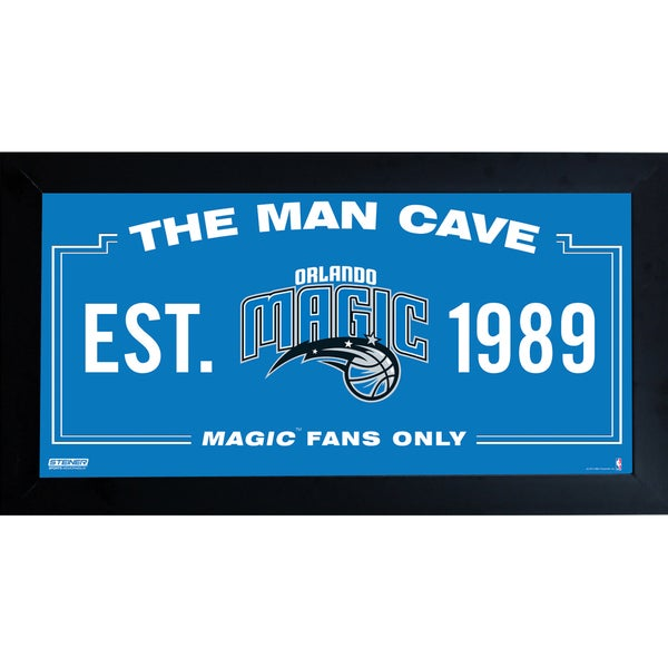 Orlando Magic Man Cave Sign 6x12 Framed Photo