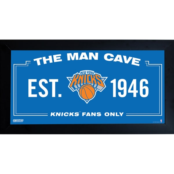 New York Knicks Man Cave Sign 6x12 Framed Photo