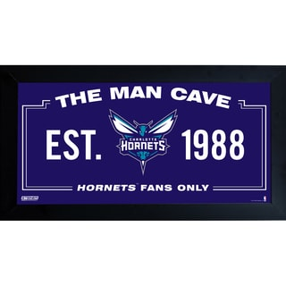 Charlotte Hornets Man Cave Sign 6x12 Framed Photo