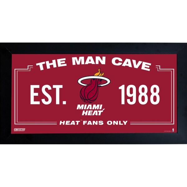 Miami Heat Man Cave Sign 6x12 Framed Photo