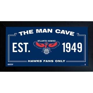 Atlanta Hawks Man Cave Sign 6x12 Framed Photo