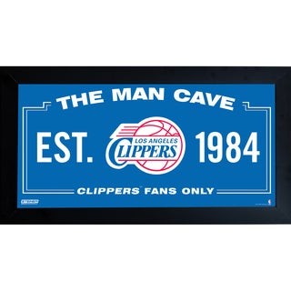 Los Angeles Clippers Man Cave Sign 6x12 Framed Photo