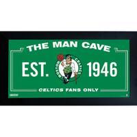 Boston Celtics Man Cave Sign 6x12 Framed Photo