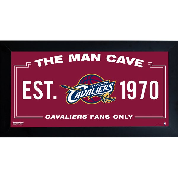 Cleveland Cavaliers Man Cave Sign 6x12 Framed Photo