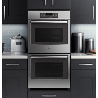 GE Black 27-inch Built-in Double Wall Oven
