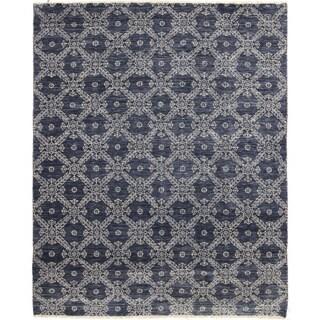 Oushak Muborak Blue Area Rug (8'10 x 11'9)