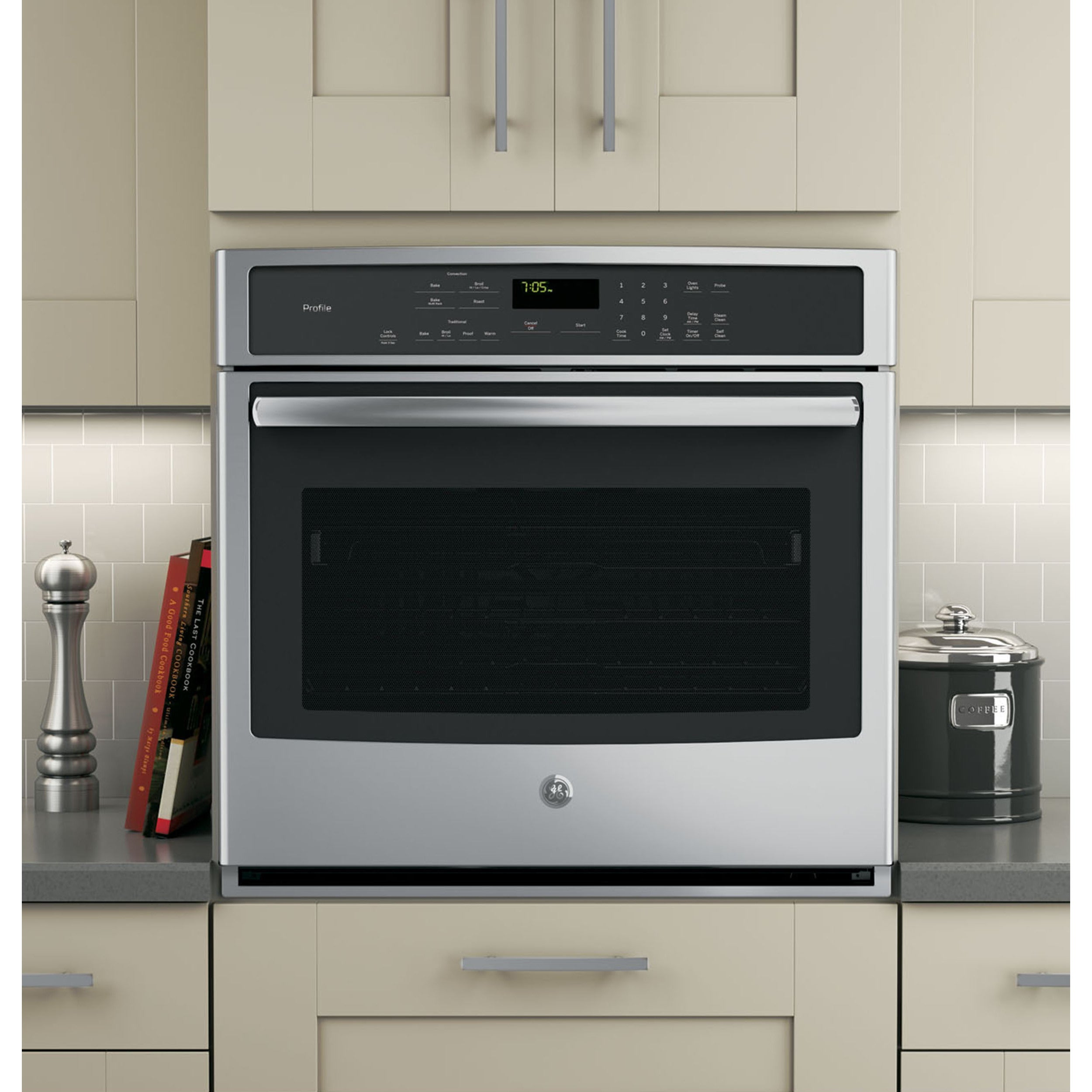 GE Profile Series 30-inch Built-in Single Convection Wall...