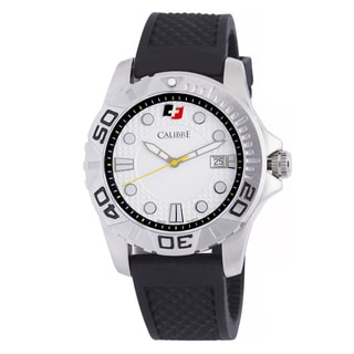 Calibre Akron Mens White Dial Watch