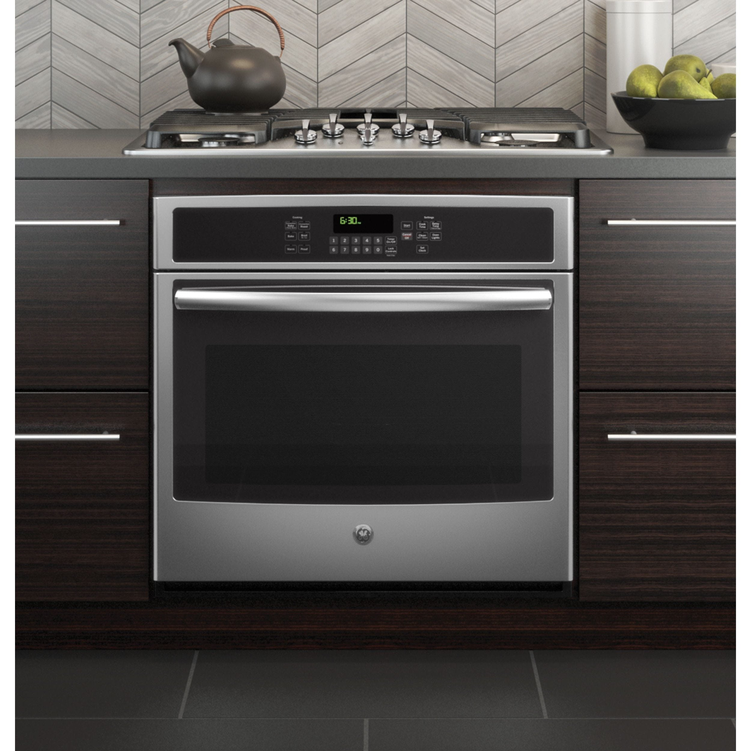 GE Black 30-inch Built-in Single Convection Wall Oven (Bl...