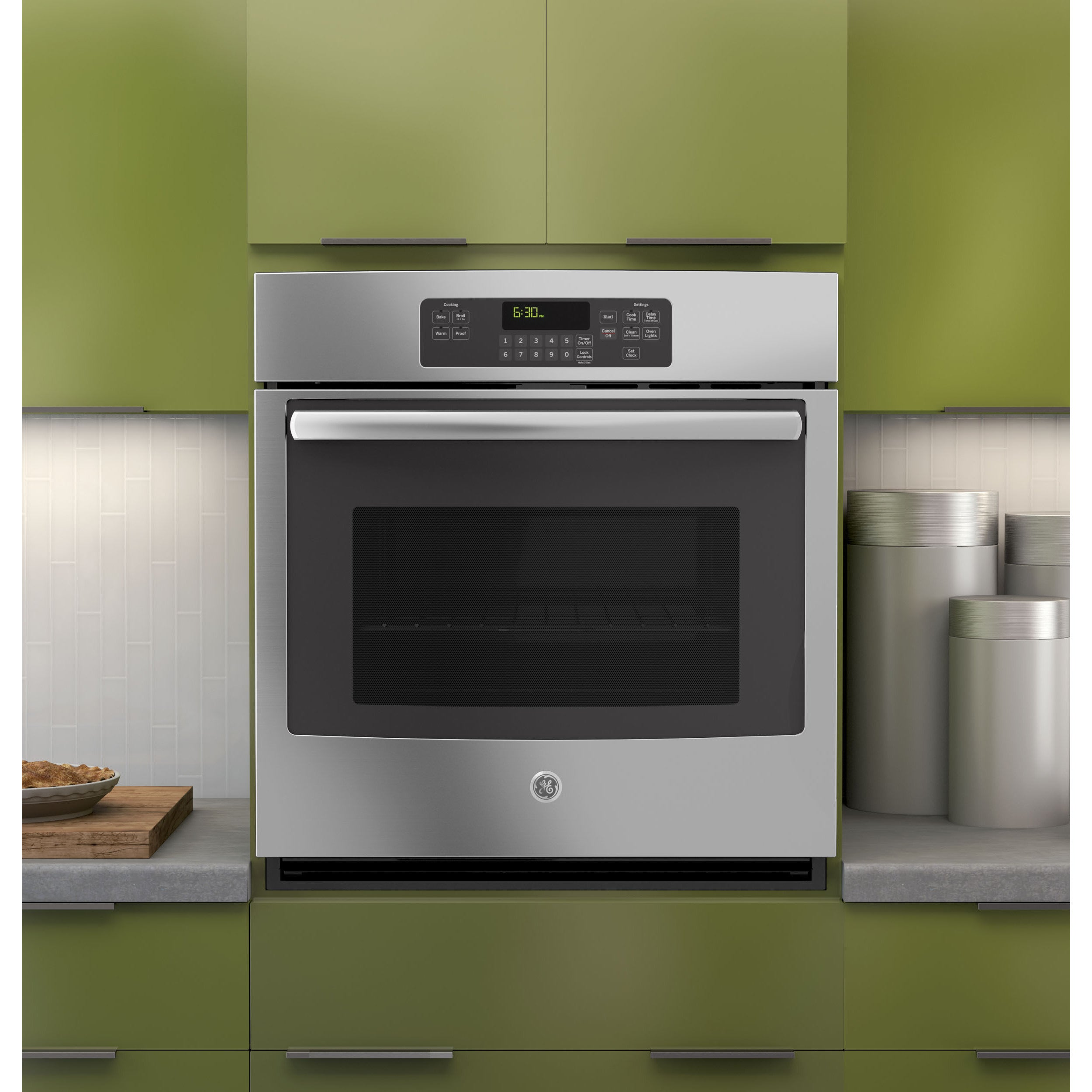 GE 27-inch Built-in Single Wall Oven (Stainless Steel (Si...