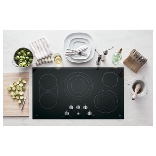 GE Cafe Series 36-inch Built-in Knob Control Electric Cooktop