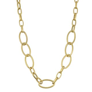 Fremada 14k Yellow Gold Oval Link Necklace (16 - 18 inches)