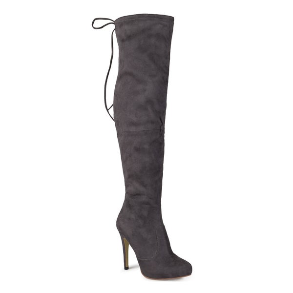 Journee Collection Women's 'Magic' Regluar and Wide-calf Over-the-knee High Heel Boots