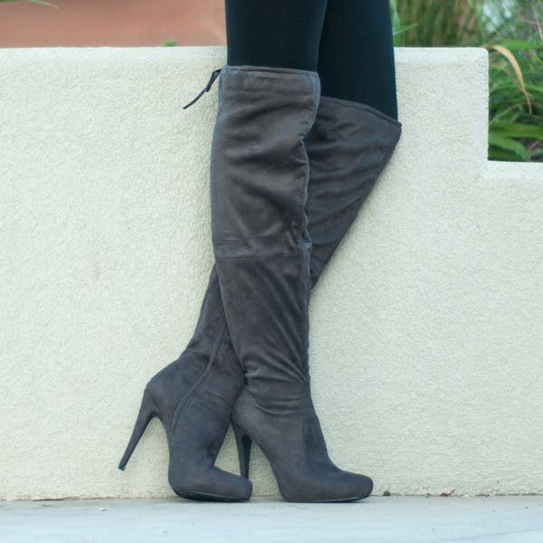 e727eee81 Journee Collection Women's 'Magic' Regluar and Wide-calf Over-the-knee