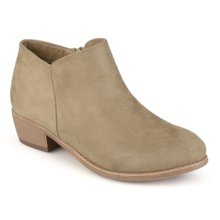 Link to Journee Collection Women's 'Sun' Faux Suede Heeled Booties Similar Items in Women's Shoes