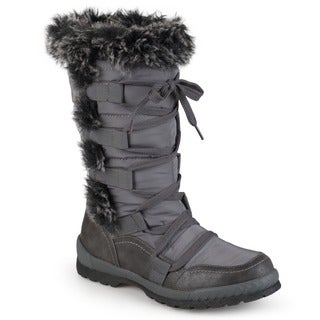 Journee Collection Women's 'Pelt' Faux Fur Cold Weather Boots