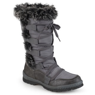 Journee Collection Women's 'Pelt' Faux Fur Cold Weather Boots