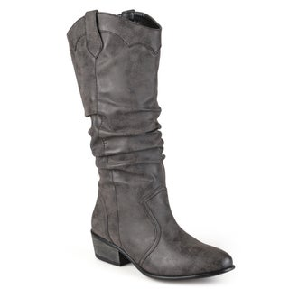 Journee Collection Women's 'Drover' Regular and Wide-calf Slouch Faux Leather Riding Boots (More options available)