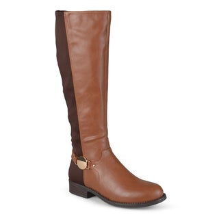 Journee Collection Women's 'Disk' Regular and Wide-calf Tall Round Toe Riding Boots