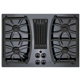 GE Profile Series Black 30-inch Built-in Gas Downdraft Cooktop|https://ak1.ostkcdn.com/images/products/10356127/P17464484.jpg?impolicy=medium