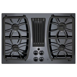 GE Profile Series Black 30-inch Built-in Gas Downdraft Cooktop (2 options available)