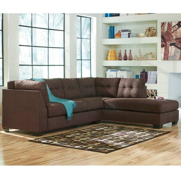 Astonishing Shop Benchcraft Maier Microfiber Sectional Sofa With Right Ibusinesslaw Wood Chair Design Ideas Ibusinesslaworg