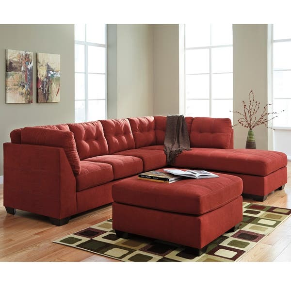 Pleasant Shop Benchcraft Maier Microfiber Sectional Sofa With Right Squirreltailoven Fun Painted Chair Ideas Images Squirreltailovenorg