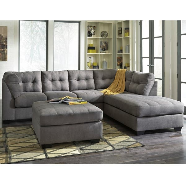 Swell Shop Benchcraft Maier Microfiber Sectional Sofa With Right Squirreltailoven Fun Painted Chair Ideas Images Squirreltailovenorg