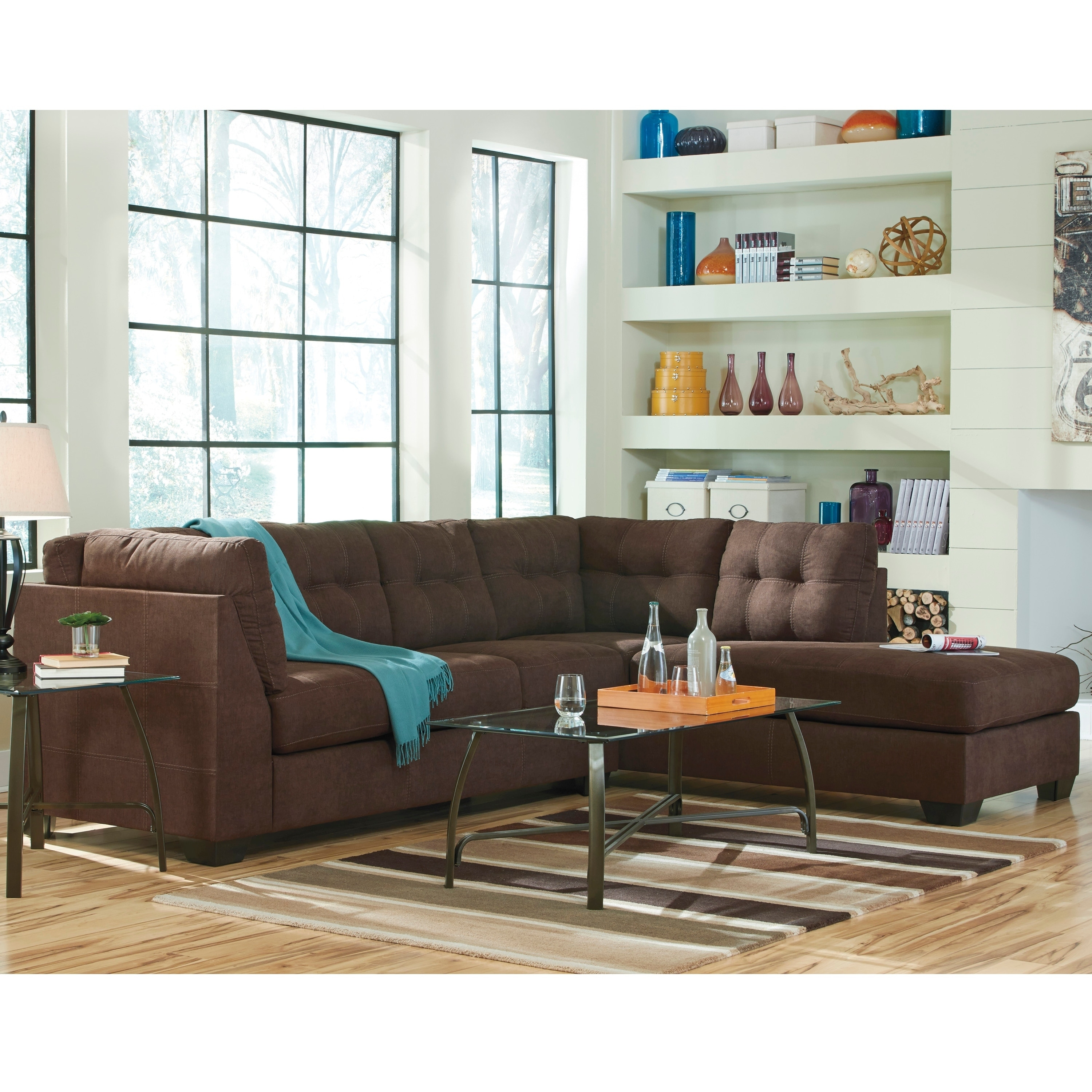 Fabulous Benchcraft Maier Microfiber Sectional Sofa With Right Side Facing Chaise Squirreltailoven Fun Painted Chair Ideas Images Squirreltailovenorg