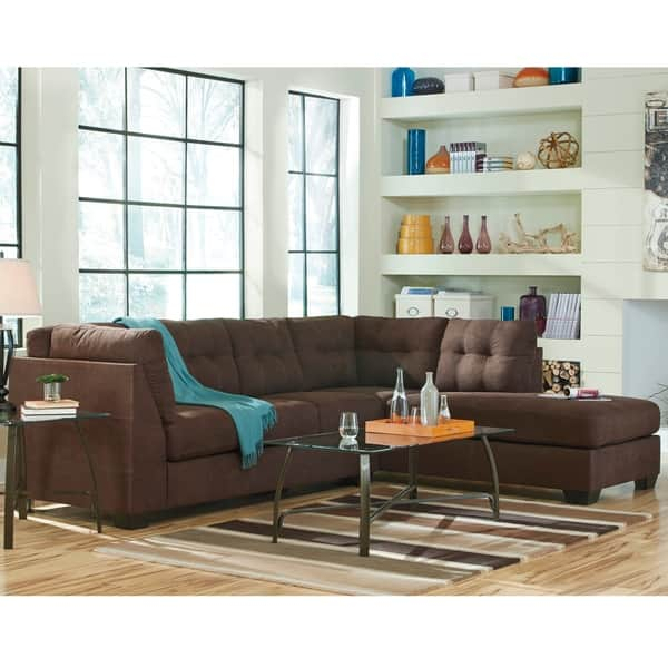 Tremendous Shop Benchcraft Maier Microfiber Sectional Sofa With Right Uwap Interior Chair Design Uwaporg