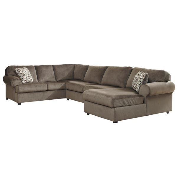 Shop Porch & Den Wells Oversized Fabric Sectional Sofa - On ...