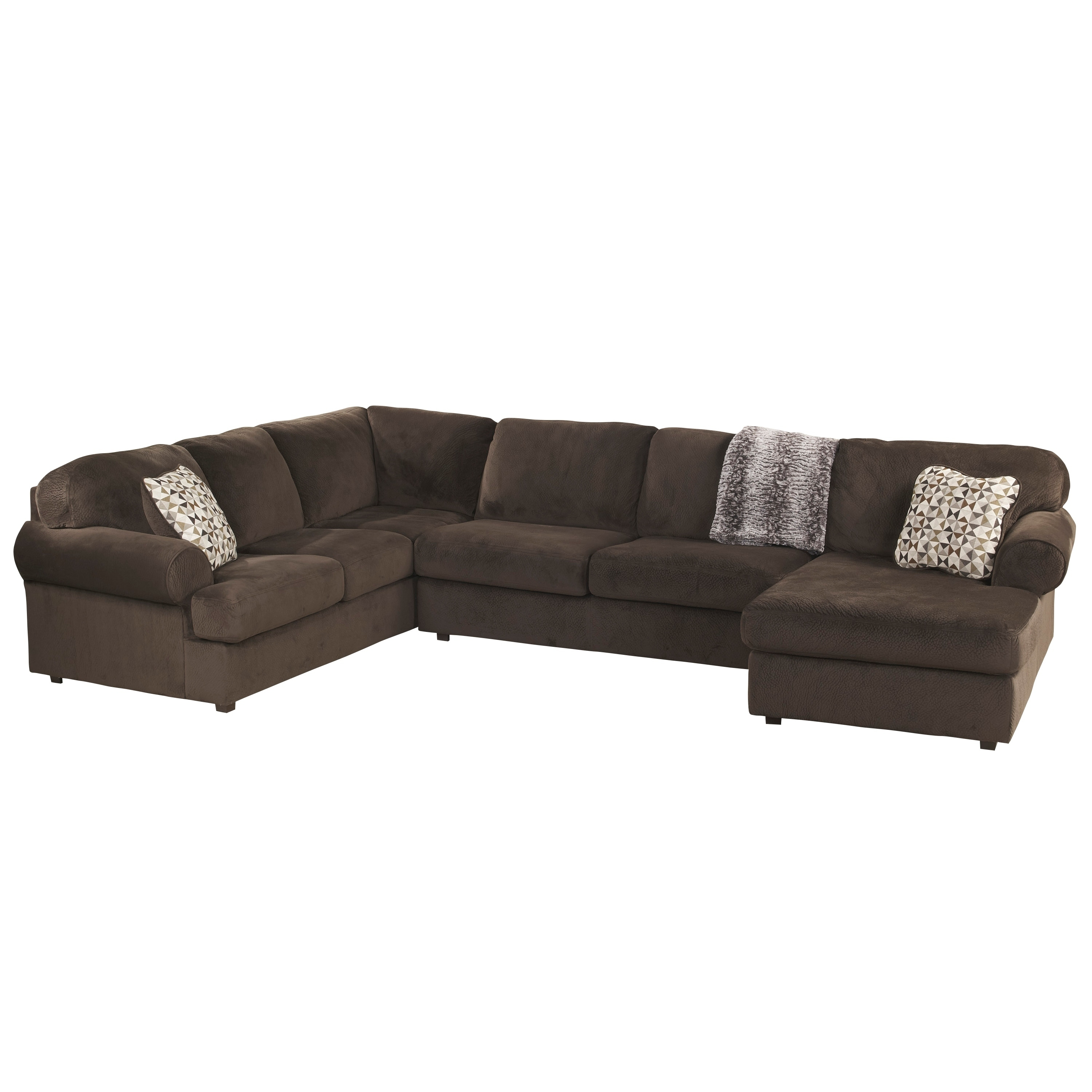 Porch & Den Wells Oversized Fabric Sectional Sofa