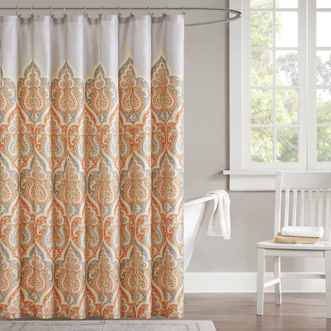 The Curated Nomad Lucy Cotton Shower Curtain